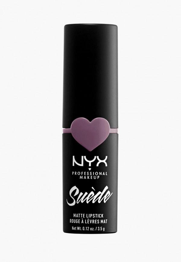 женская помада nyx, фиолетовая