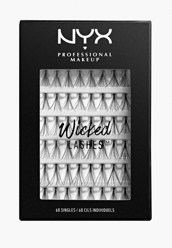 женские накладные ресницы nyx professional makeup, черные