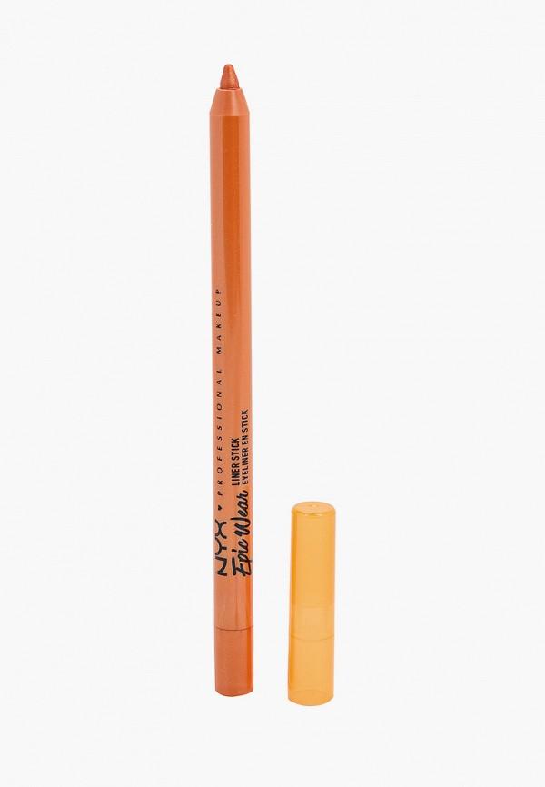 женский карандаш для глаз nyx professional makeup, оранжевый