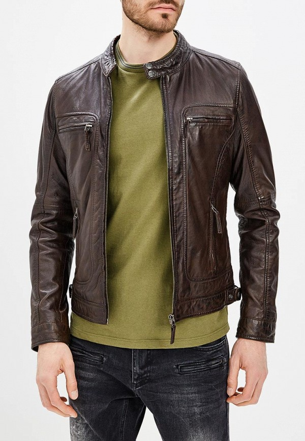 Купить Куртка кожаная Oakwood, oa002emchb96, коричневый, Весна-лето 2019