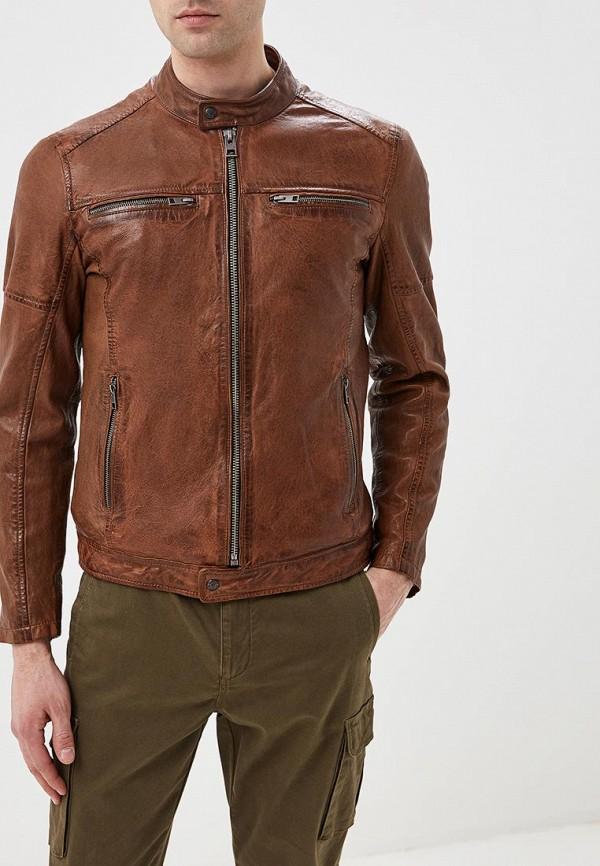 Купить Куртка кожаная Oakwood, oa002emdvtn2, коричневый, Весна-лето 2019