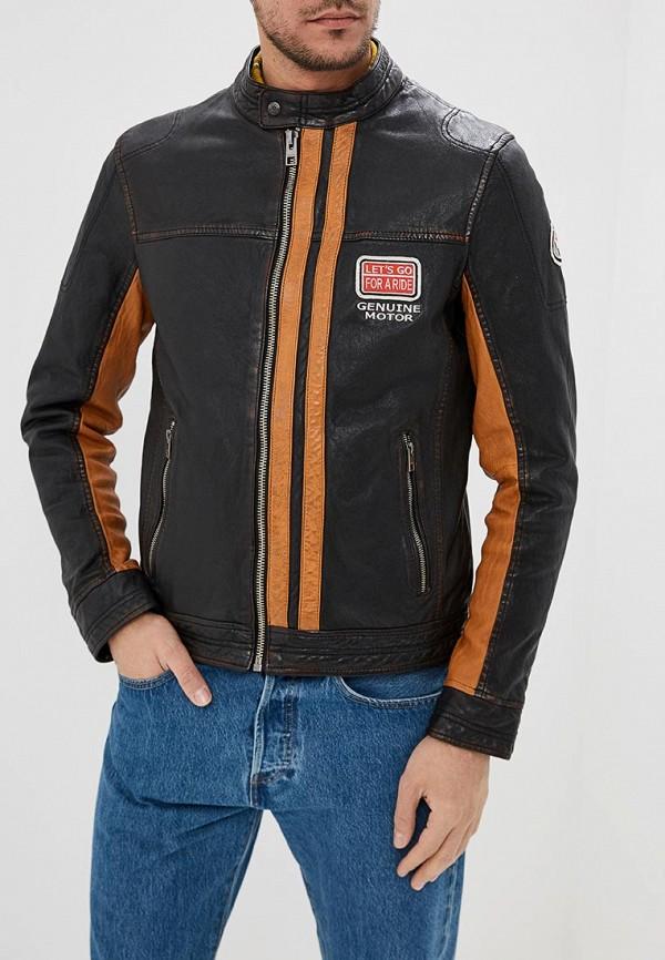 Купить Куртка кожаная Oakwood, oa002emdvtn3, коричневый, Весна-лето 2019