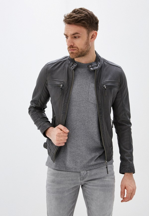 мужская куртка oakwood, серая