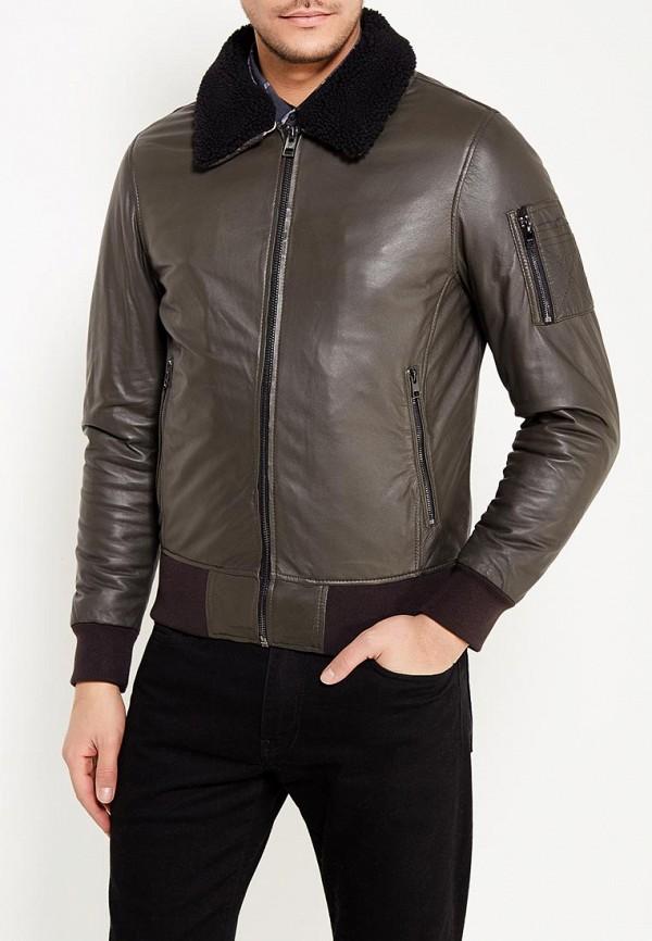 Фото - Куртку кожаная Oakwood цвета хаки