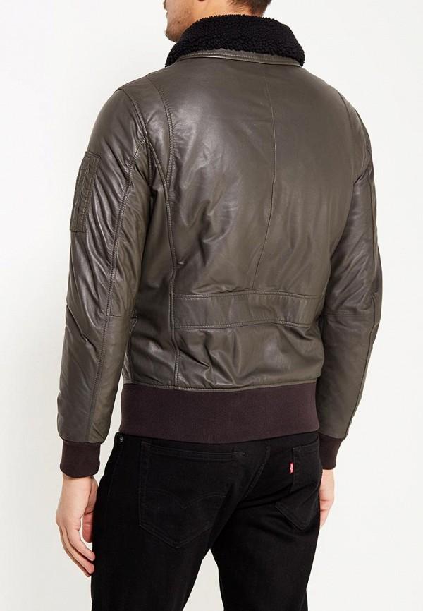 Фото 3 - Куртку кожаная Oakwood цвета хаки