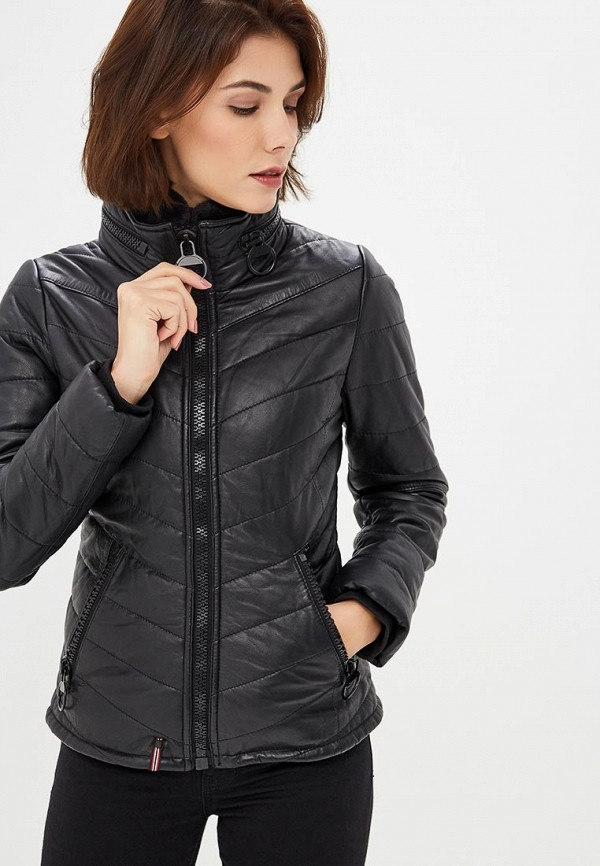 Куртка кожаная Oakwood Oakwood OA002EWBSVD4 куртка утепленная oakwood oakwood oa002emjjj82
