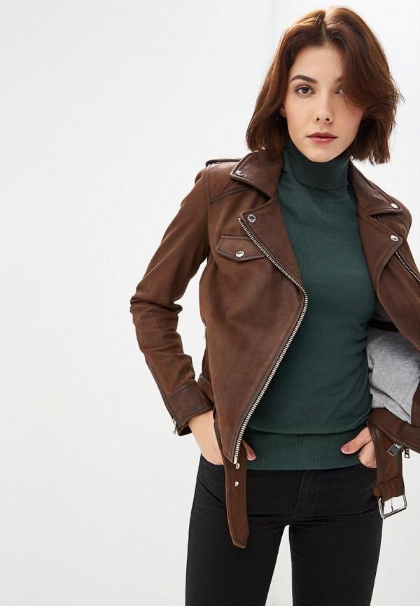 Купить Куртка кожаная Oakwood, OA002EWBSVD5, коричневый, Осень-зима 2018/2019