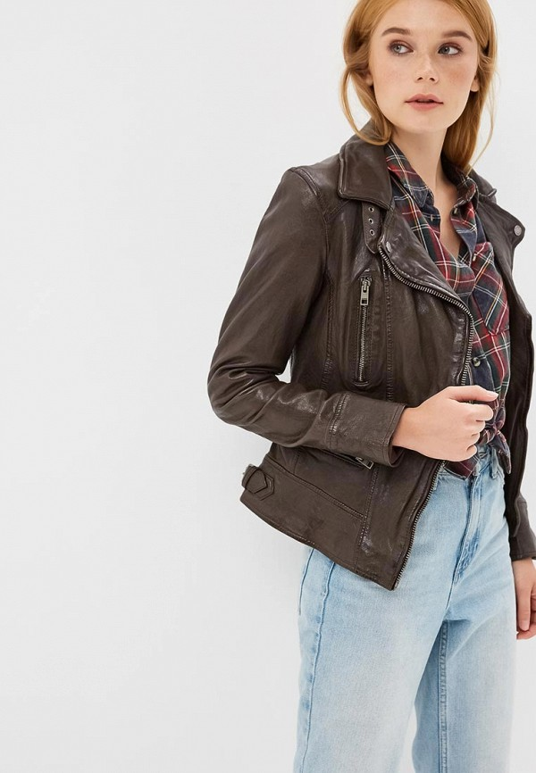 Куртка кожаная Oakwood Oakwood OA002EWBSVE5 куртка утепленная oakwood oakwood oa002emjjj82