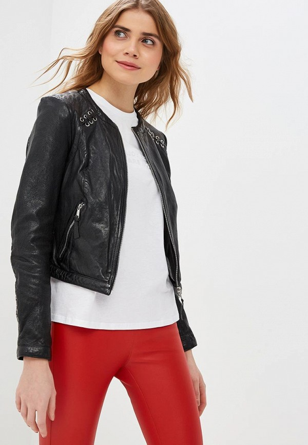 Купить Куртка кожаная Oakwood, oa002ewdvtn8, черный, Весна-лето 2019