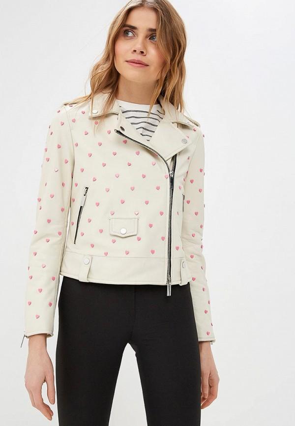 Купить Куртка кожаная Oakwood, oa002ewdvtn9, белый, Весна-лето 2019