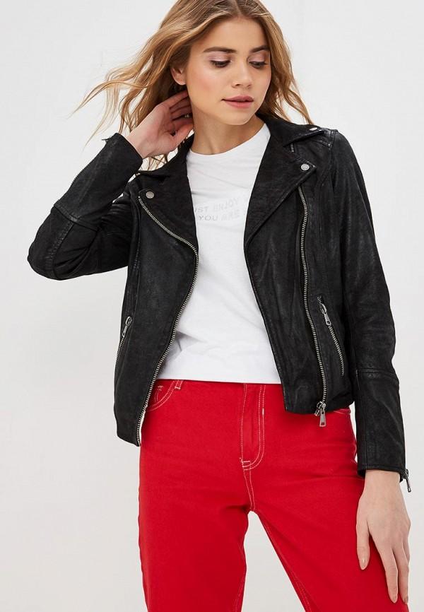 Купить Куртка кожаная Oakwood, oa002ewdvto3, черный, Весна-лето 2019