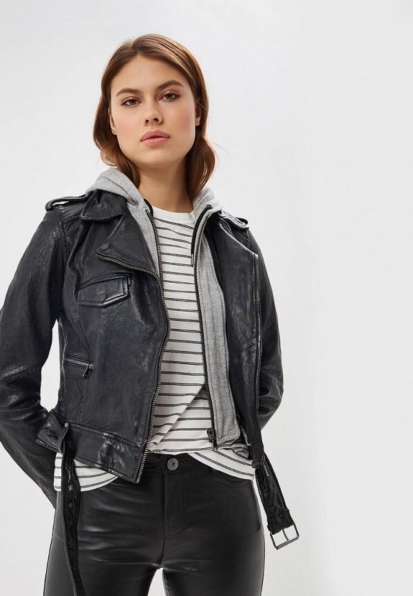 Купить Куртка кожаная Oakwood, oa002ewdvto6, черный, Весна-лето 2019