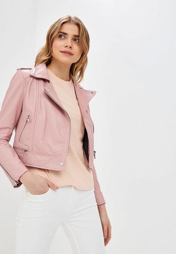 Купить Куртка кожаная Oakwood, oa002ewdvto7, розовый, Весна-лето 2019