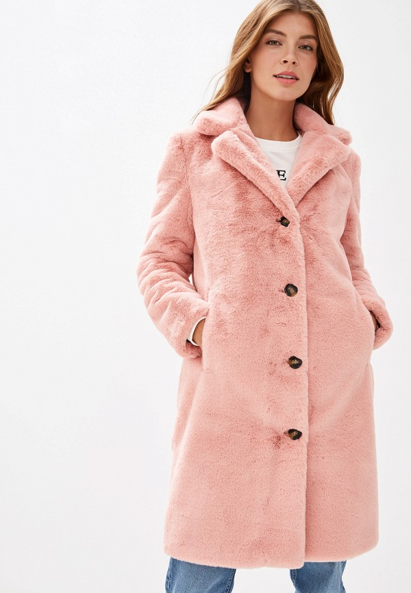 женская шуба oakwood, розовая