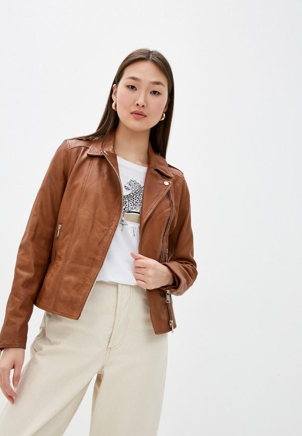 женская куртка oakwood, коричневая