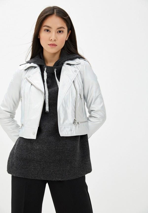 женская куртка oakwood, серебряная