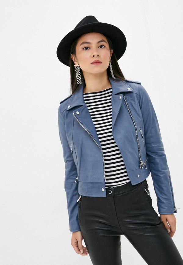женская куртка oakwood, голубая