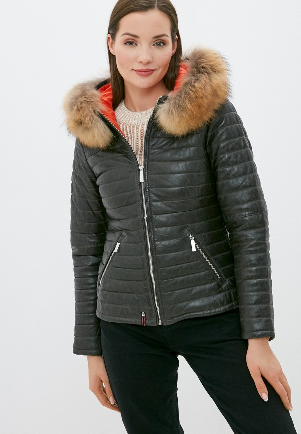 женская куртка oakwood, хаки