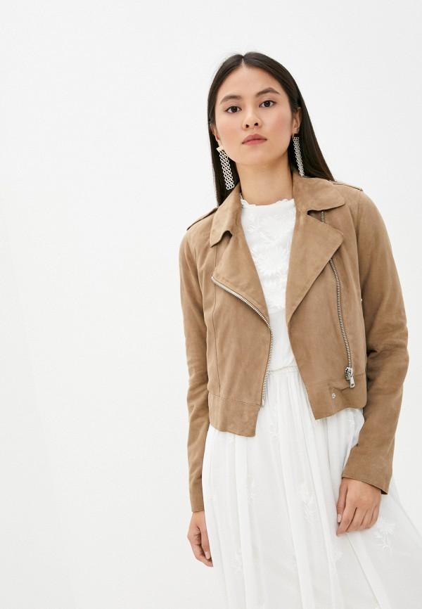женская куртка oakwood, бежевая
