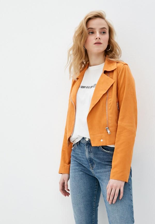 женская куртка oakwood, оранжевая