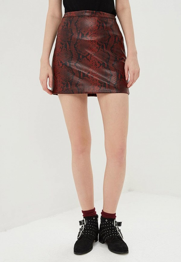 женская юбка oasis, бордовая