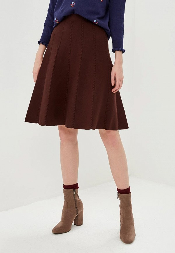 женская юбка oasis, коричневая