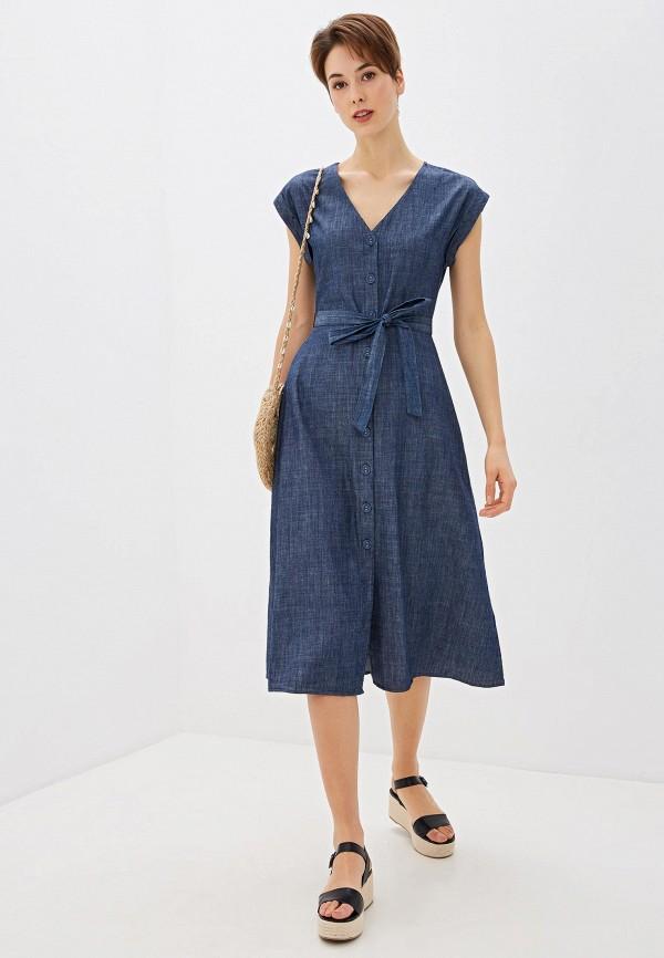 женское повседневные платье oasis, синее
