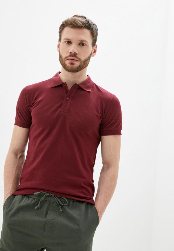 мужское поло occhibelli, бордовое