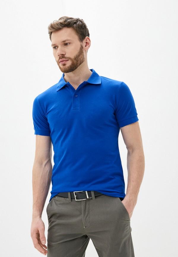 мужское поло occhibelli, синее