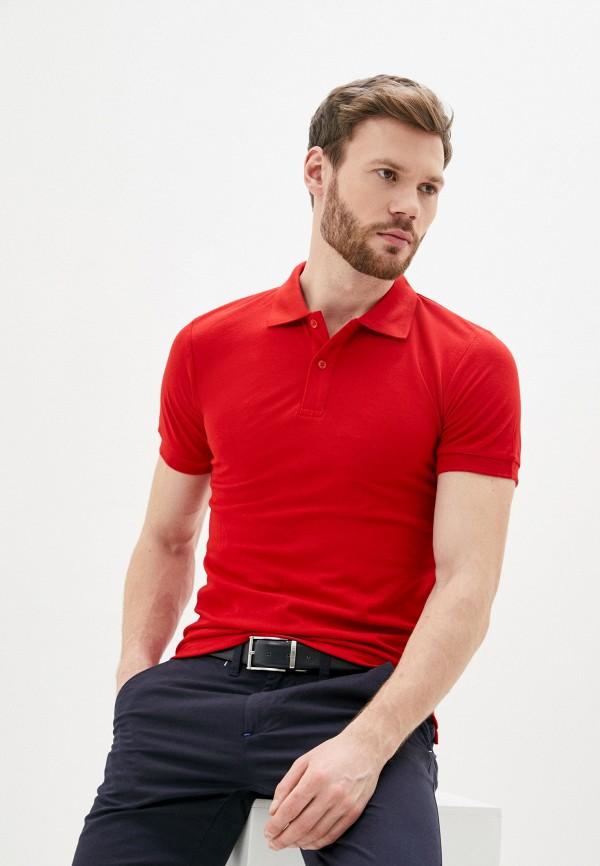 мужское поло occhibelli, красное