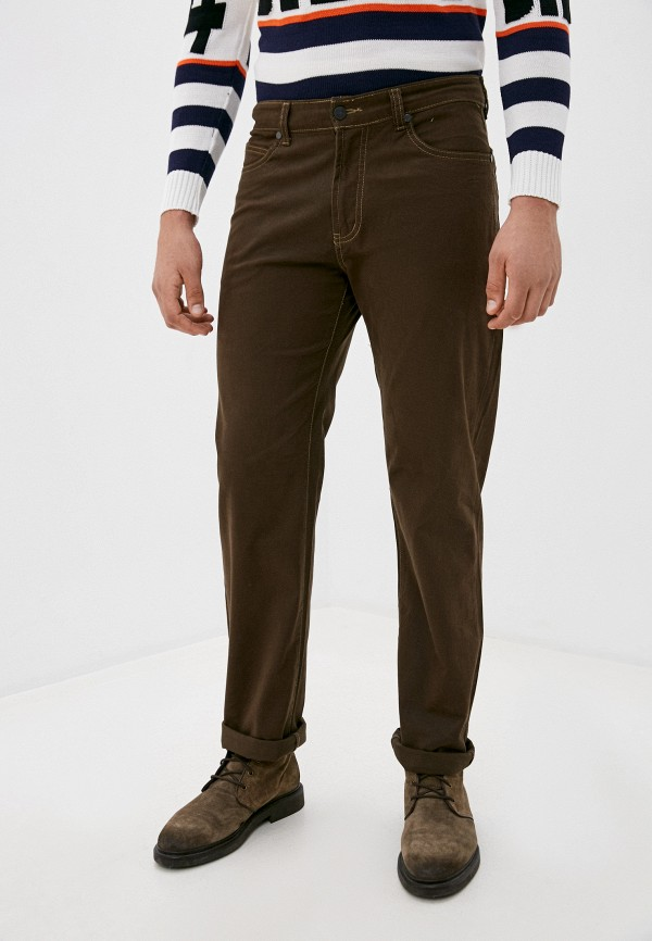 мужские прямые брюки occhibelli, коричневые