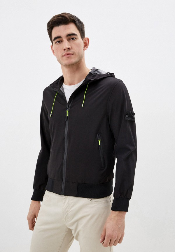 мужская куртка occhibelli, черная