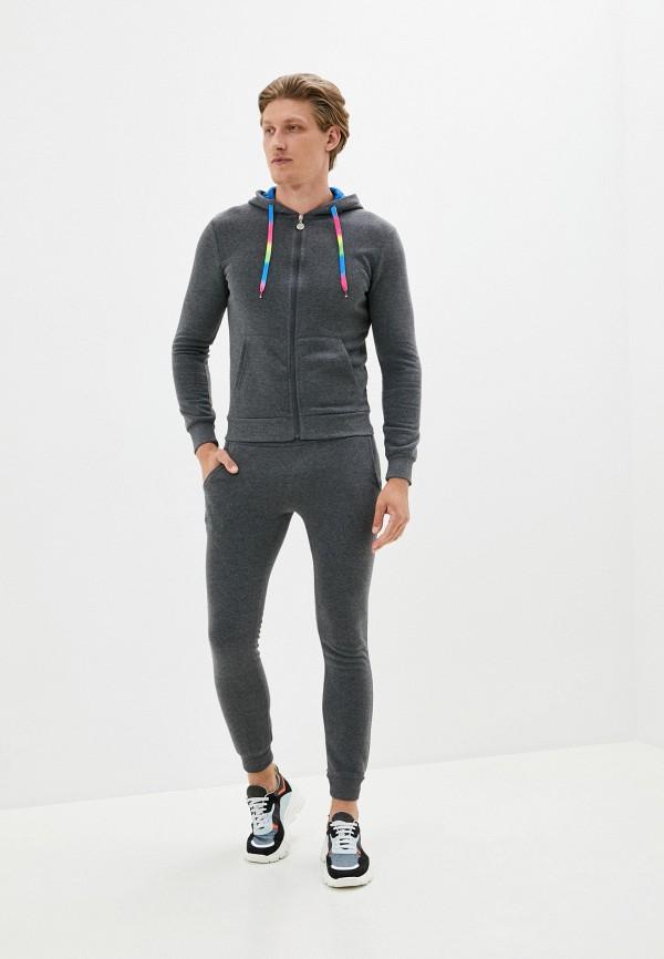 мужской спортивный костюм occhibelli, серый