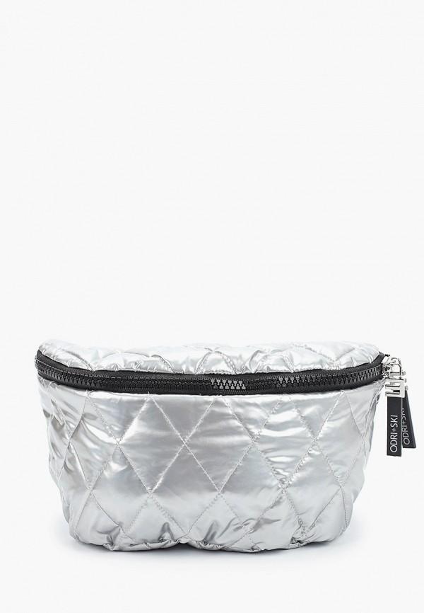 женская сумка odri, серебряная