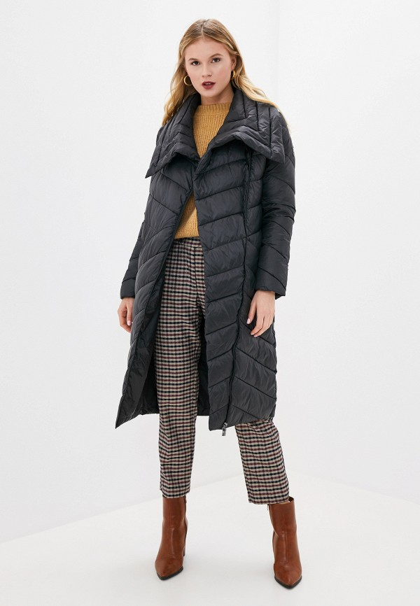 Фото 2 - Куртку утепленная Odri Mio черного цвета