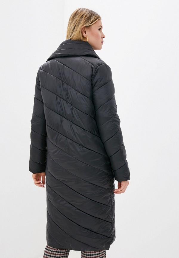 Фото 3 - Куртку утепленная Odri Mio черного цвета