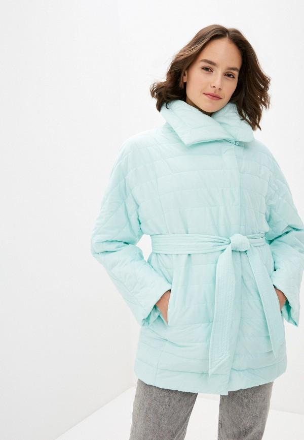 женская куртка odri mio, зеленая
