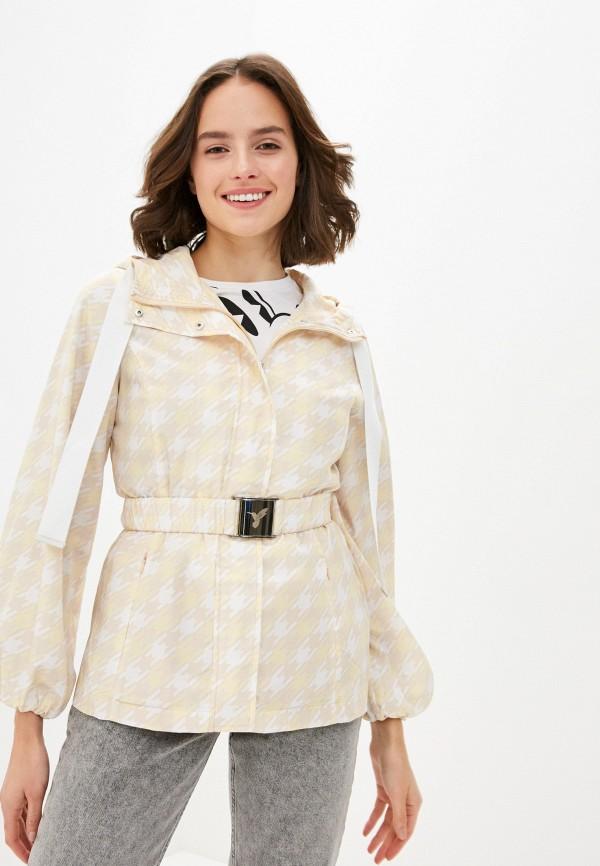 женская куртка odri mio, желтая