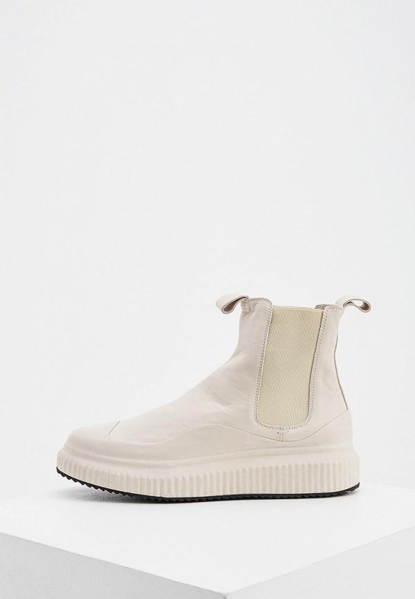 женские ботинки officine creative, бежевые