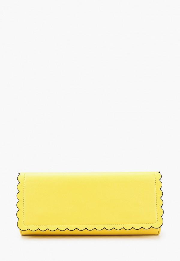 женский клатч olga berg, желтый