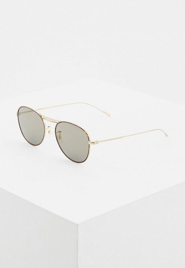 мужские солнцезащитные очки oliver peoples, золотые
