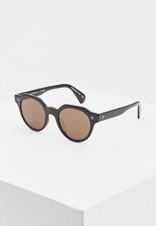 женские круглые солнцезащитные очки oliver peoples, черные
