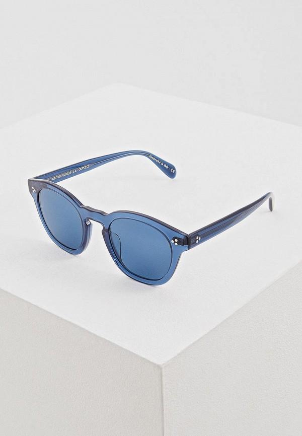 женские солнцезащитные очки oliver peoples, синие