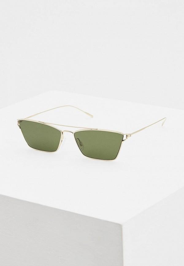 женские солнцезащитные очки oliver peoples, зеленые