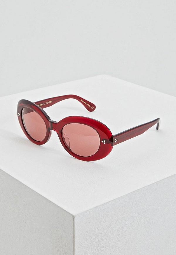 женские солнцезащитные очки oliver peoples, бордовые
