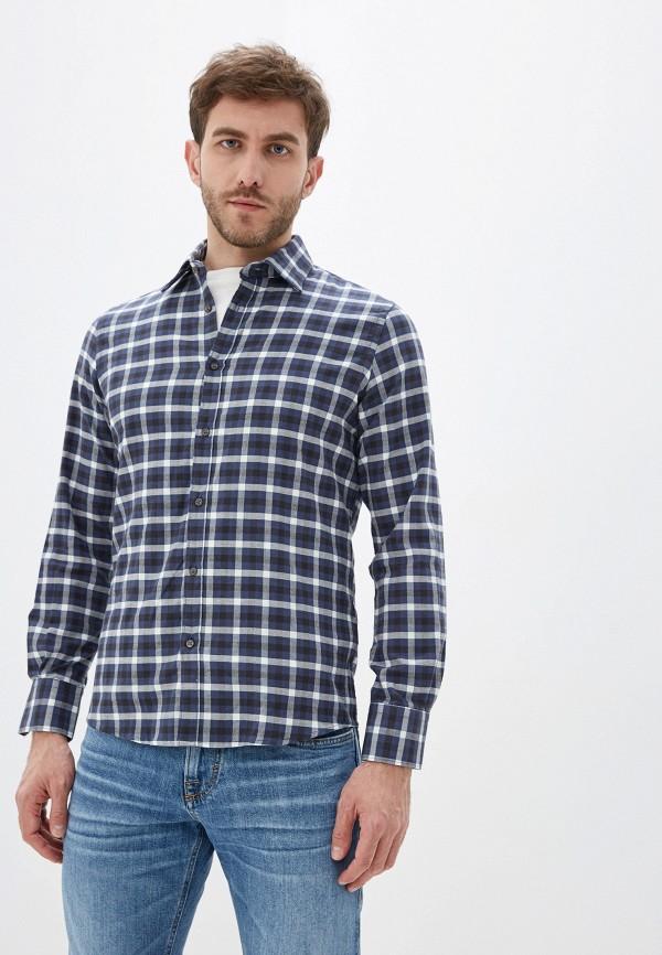 мужская рубашка с длинным рукавом old seams, синяя