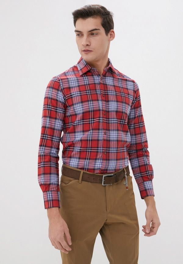 мужская рубашка с длинным рукавом old seams, красная