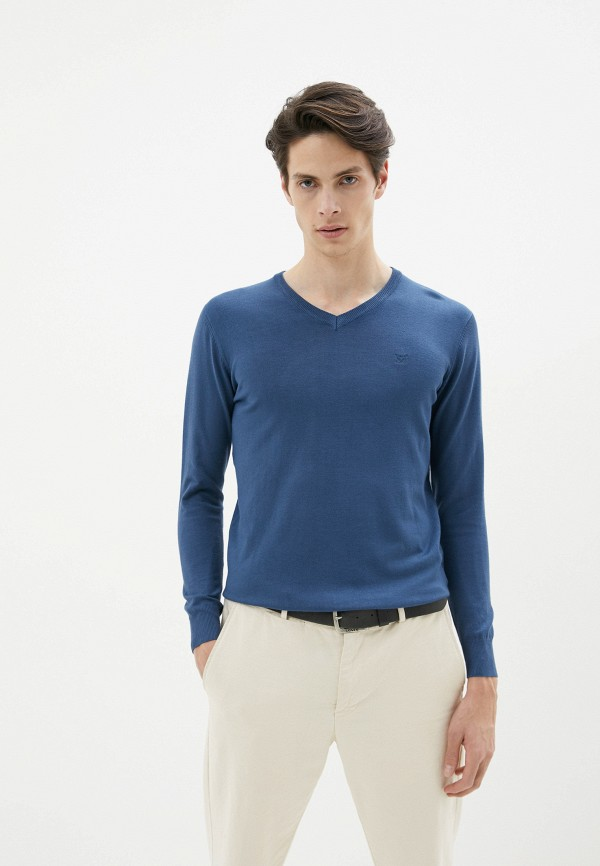 мужской пуловер old seams, синий