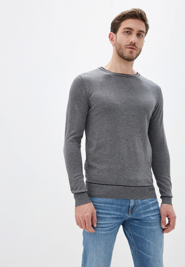 мужской джемпер old seams, серый