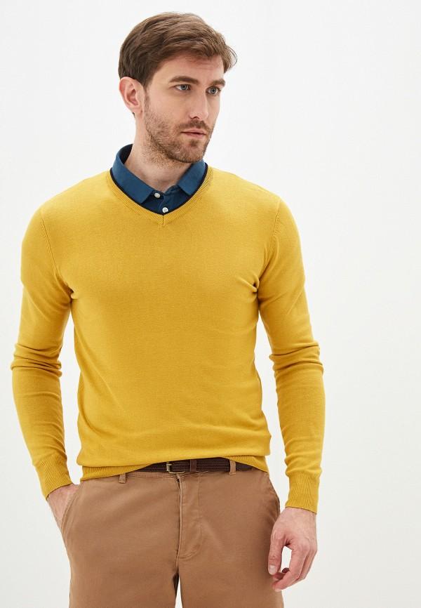 мужской пуловер old seams, желтый